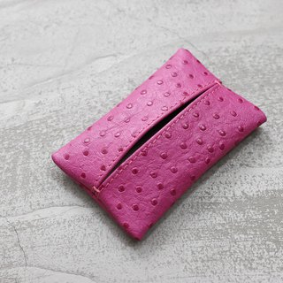 KAKU leather design leather face paper cover with paper face pink ostrich pattern