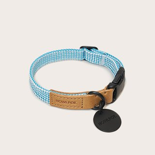 Wat. Hand-knitted collar - Cloud bay