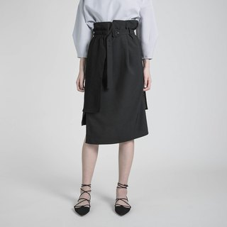 Relativity relativity asymmetric skirt _8AF232_ black