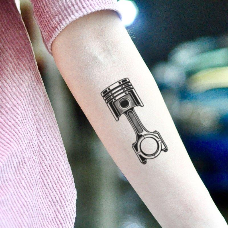 OhMyTat 活塞 Piston 刺青圖案紋身貼紙 (2 張)