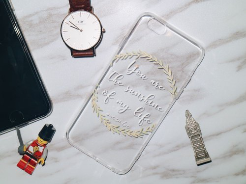 Customized European font phone case IPHONECASE