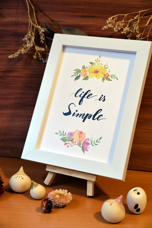 [Customized orders] hand-painted watercolor painting text floral decoration