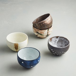 There is a kind of creativity - Japan Meinong - Zen style glaze burning small bowl (5 pieces)