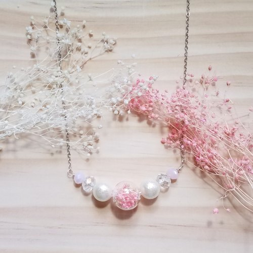 Philippine Dream powder | powder dried flowers necklace