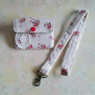 Mini bear hand made rose garden multi-function small card package + special with the same paragraph lanyard exclusive