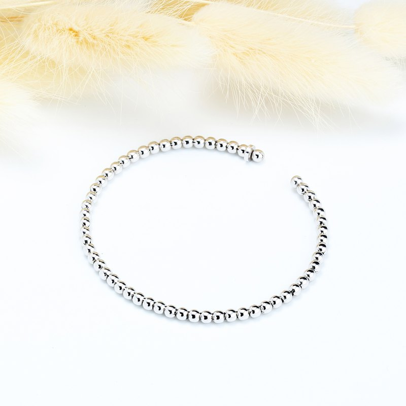 Simple Ball s925 Sterling Silver Bracelet Valentine's Day gift
