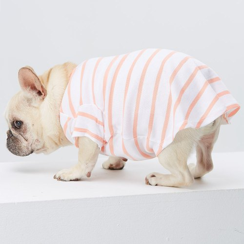 Small V-Neck Striped Pet Clothes - Wide Edition