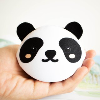 Panda bear coin purse. Birthday gift. Handmade bag in Japanese style.