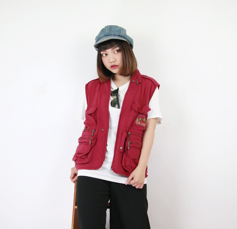 Back to Green Fisherman's Tank Rose Red//Everyone Can Wear Vintage F-08