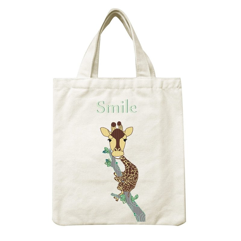 Creative designer - small canvas bag [Smile giraffe] - Iraq Dai Xuan, CA1AF01