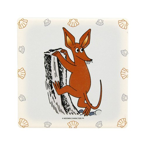 Moomin Moomin authorization - water coaster: [timid] big ears (round / square)