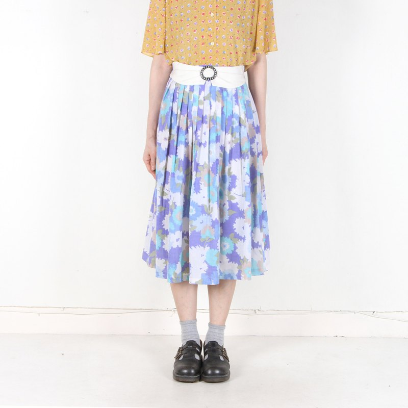 [Egg Plant Vintage] Gorgeous Song Ji Printing Vintage Dress