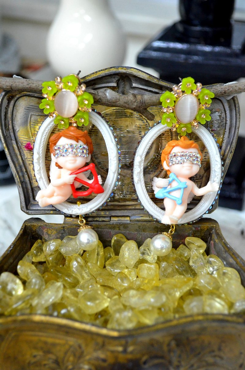 TIMBEE LO Cupid Little Angel Earrings A pair for sale