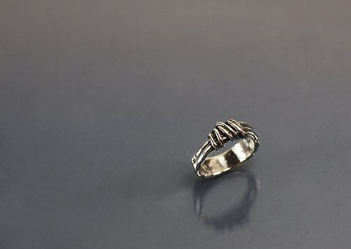 Circle lines 925 silver ring