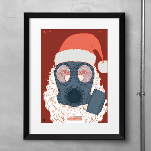 Situation illustration poster: Doomsday Christmas