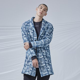 DYCTEAM - Cross Pattern Jacquard Parka