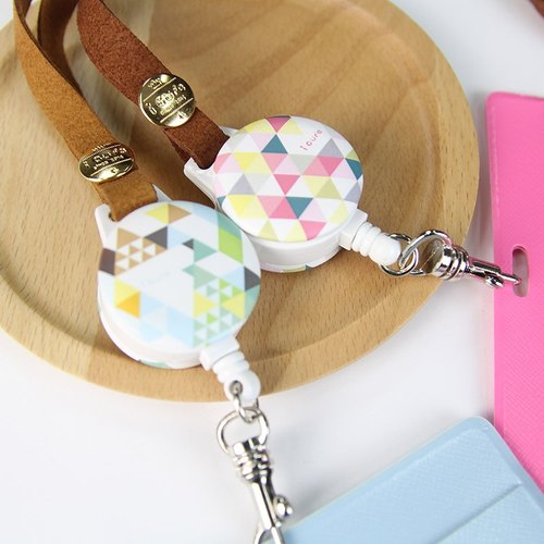 Geometric - Rose Garden & hearty mountain (two) i Good Day - retractable telescopic pull ring buckle badge sets of documents folder documents folder ticket travel card suede valentine