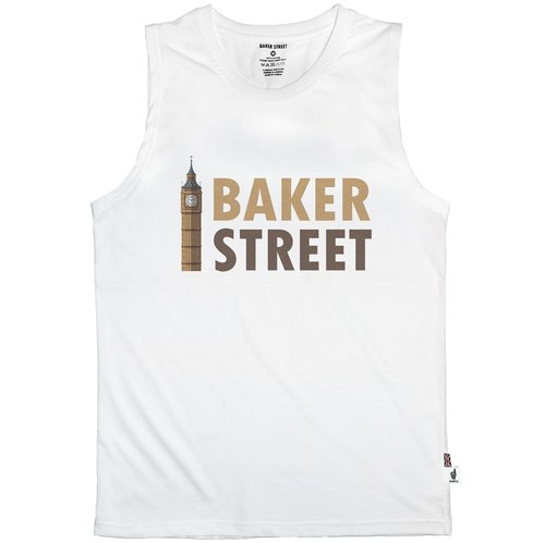 British Fashion Brand [Baker Street] Big Ben Printed Vest