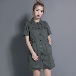 Explorer Explorer Shirt Dress _7SF013_军绿