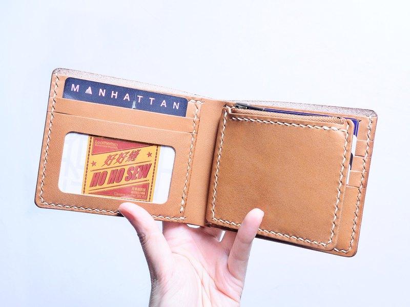 5咭位相片零錢包短夾 好好縫 皮革材料包 情侶銀包 意大利 植鞣