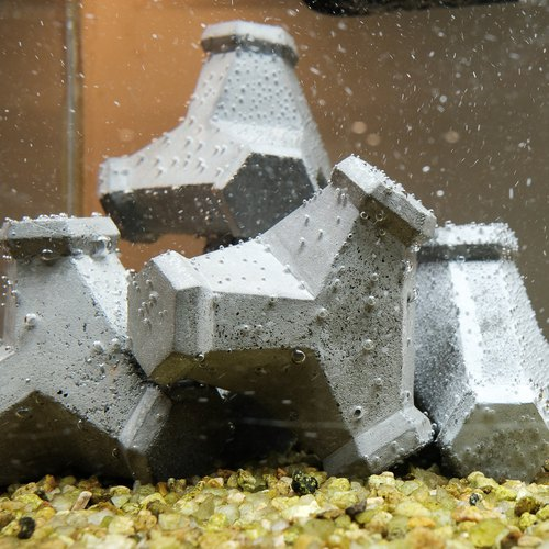 Odd remember. Cement wave block. Decoration / Gifts / aquarium fish tank / gardening landscaping