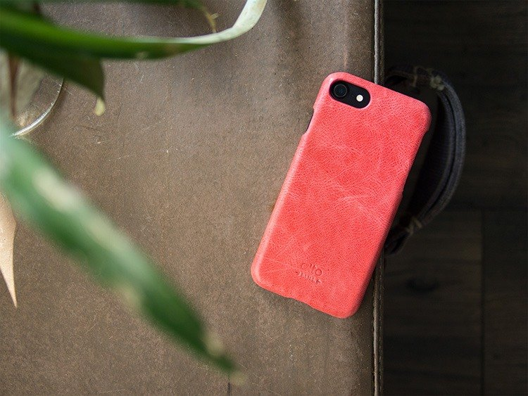 Alto iPhone 8 leather case back cover 4.7吋Original - Coral Red