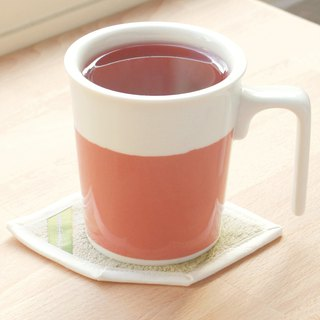 [Drinking good office] Raspberry Kiss Kiss mug cotton coaster