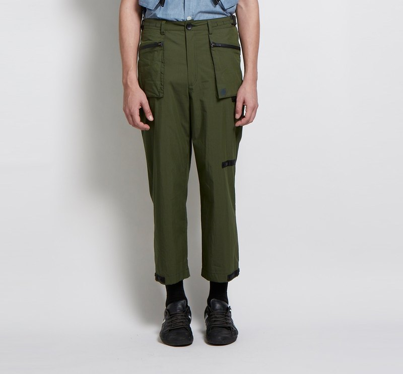Gou outline - stick with a large straight nine pants (Army Green)