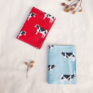 Cloth for passport holder / cow 哞哞