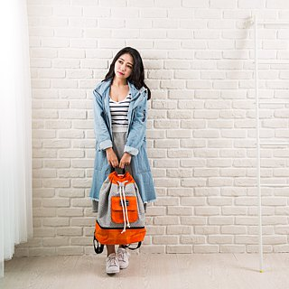 SOLUNA [ Summer Whisper Series ] Drawstring Backpack(Orange)
