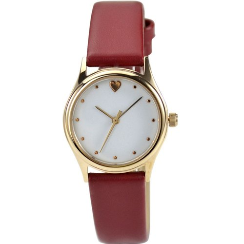 Mother's day - Elegant Watch with heart red band (Small size)