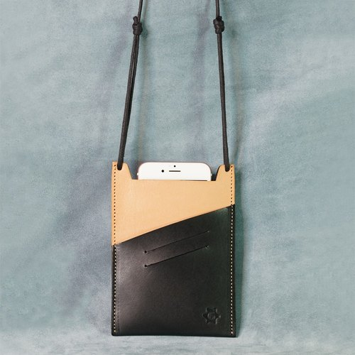 Two-color multi-function card phone hanging bag (original skin color)
