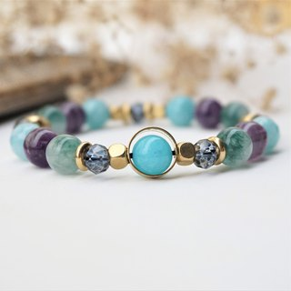 << Confidence - Natural Stone Band >> Tianhe Stone Amethyst Seaweed Agate Lake Green Onyx