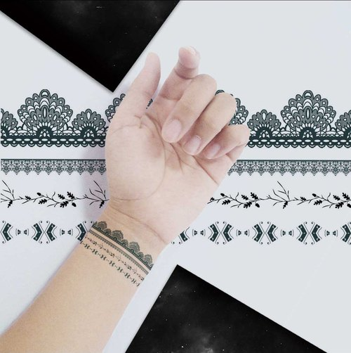 TU Tattoo Sticker - Lace Bracelets  Tattoo   waterproof Tattoo  original