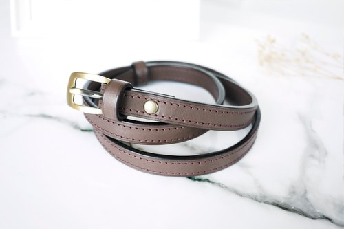 「CHI02」 leather minimalist leather with handmade leather six-color optional customized gift for own use birthday Valentine's Day Christmas