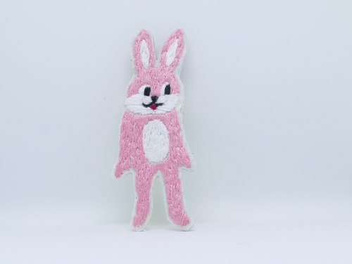 Embroidery brooch costume animal rabbit