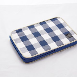 Lifeapp Sleeping Pad Replacement Cloth --- XS_W45xD30xH5cm (Blue and White) does not contain sleeping mats