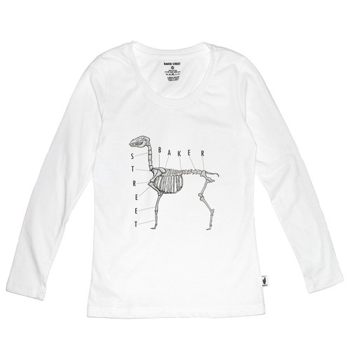 British Fashion Brand [Baker Street] Alpaca Bone Printed Long Sleeve