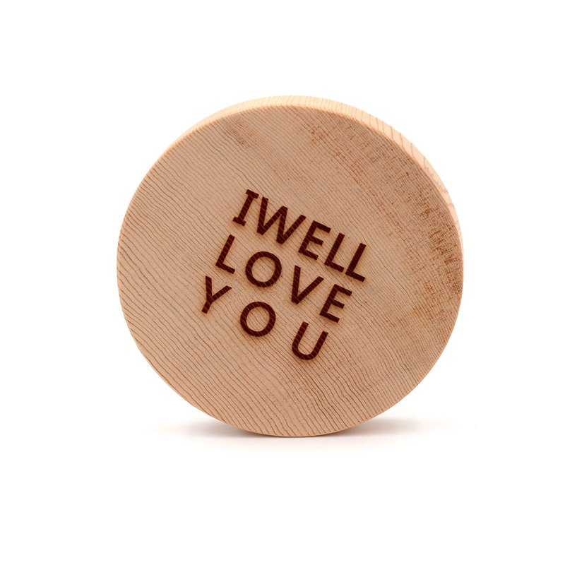 Taiwan Red Dragon Customized Text Coaster - Love You | Valentine's Day Gives Another Half of Interesting Love
