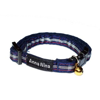 [AnnaNina] Pet Cat Collar Academy Zigsaw Collar XS~M