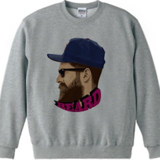 Beard sweat gray