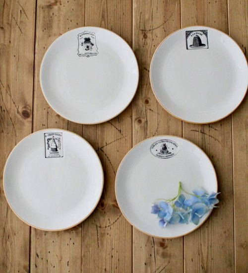 United States imports design America Retold French Beehive series of 4 dessert plate
