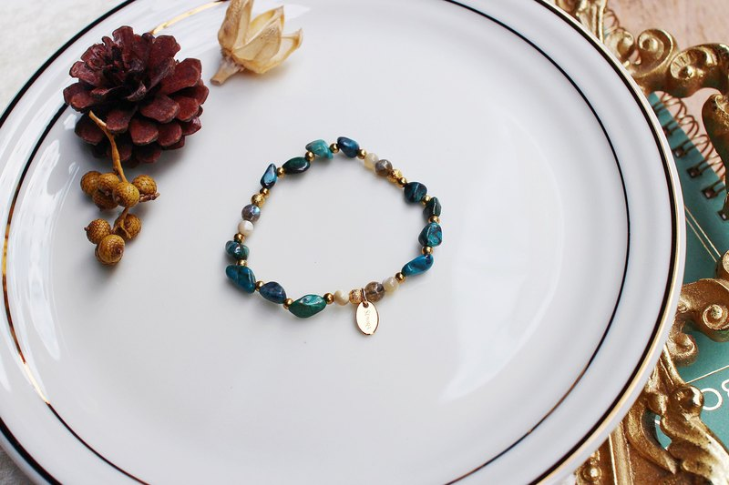 <Slow & Warm Natural Stone Series>C1135 Turquoise Bracelet