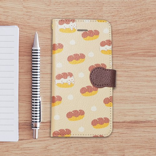 【Notebook type iPhone case】Cat-pan