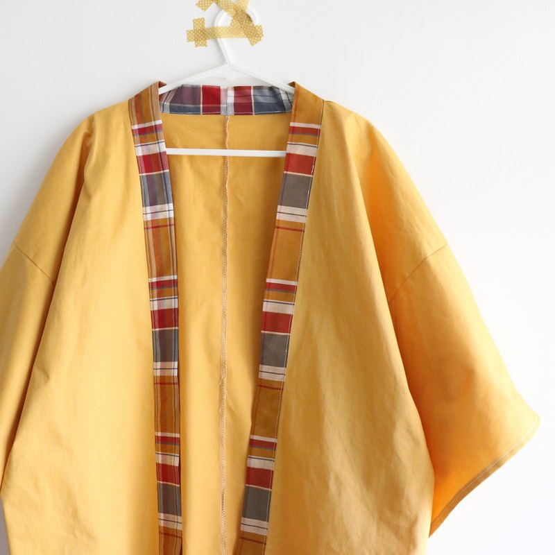 [handmade] It seems to be called mustard yellow Japanese kimono coat