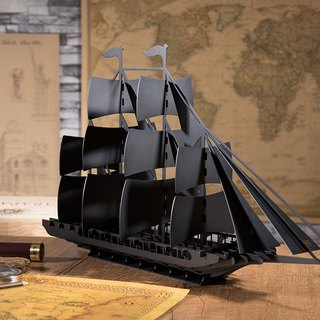 【OPUS Dongqi Metalworking】 Adventure (sailing) - metal art device / home desk / wine cabinet Decoration / living room wine care accessories / wine decoration / design hotel hotel decoration IN-sa02