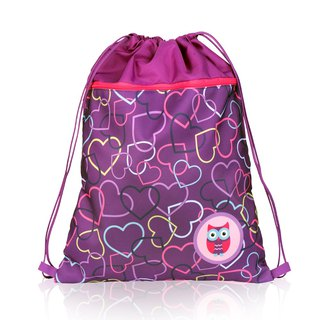 Tiger Family English Drawstring Pocket - Sweetheart Owl