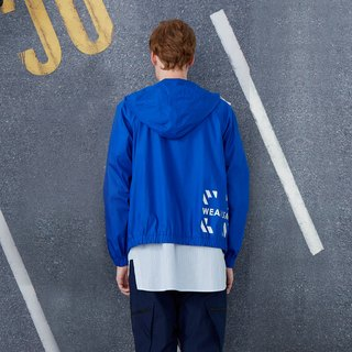 Good mood - short hat light windbreaker - blue
