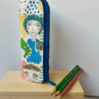 Modern girl upright pencil case graduate day exchange gift