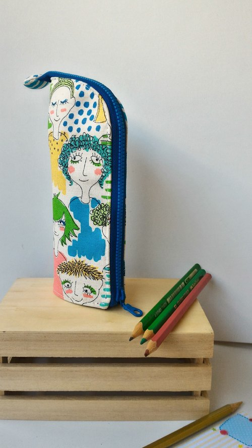 Modern girl upright pencils graduation day exchange gift